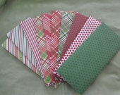 10 Assorted Plaids, stripes, polka dots, Christmas Theme Legal Business Letter Size Envelopes with Gummed Flaps Just Moisten and Seal