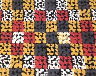 5 yards 36 wide 50s abstract color block plaid cotton dressmaking fabric