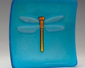 Turquoise Dragonfly Small Glass Dish