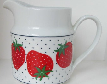 Vintage Takahashi Strawberry Strawberries Pitcher
