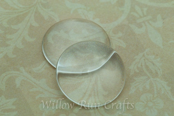 40 Pack 20mm Glass Circle Cabochons, 20mm (09-11-670)