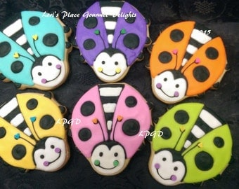 LADY BUG Cookies - Large - 1 Dozen