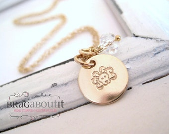 Zodiac . Horoscope . Astrological Sign . Necklace . Gold Necklace . Hand Stamped . Personalized Jewelry . What's Your Sign