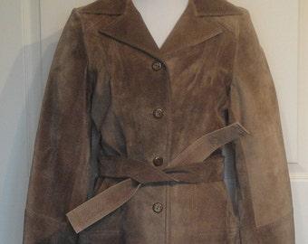 SALE!!!!!  NOS Vintage 70s Deerskin Jacket Quilted Lining B38