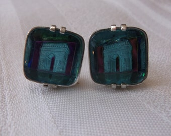 Vintage Swank Cuff Links with Arc de Triomphe  Free US Shipping