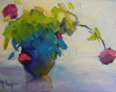 Floral Giclee Canvas Print, Roses Canvas Print, Carol Schiff Print, Flower Canvas Print, Free Shipping
