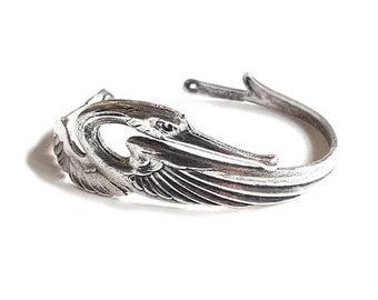 Swan Bracelet Woman Gift/ Special gift/ Silver bracelet/ Elegant style/ Unique bracelet/ Handmade/ Made in France/Fashionable bracelet