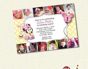 INVITATION: Baby Minnie 1st Birthday