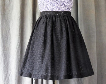 Black full skirt | Etsy
