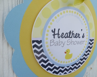 Duck Baby Shower, Rubber Duck Baby Shower, Baby Shower Welcome Sign, Baby Shower Decorations, Choose The Colors