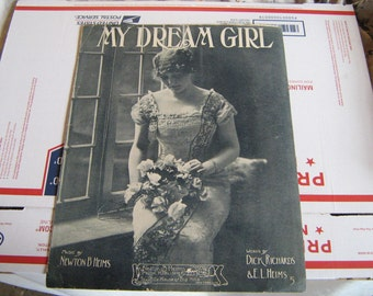 1913  sheet music (  my dream girl   )