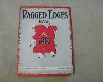 1911 sheet music  (  ragged edges rag   )
