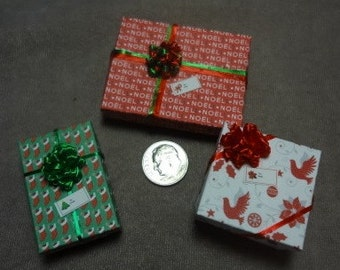 Three Mini Gift Boxes for you to Fill - set 83