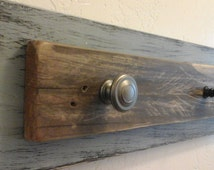 Beachy Rustic Towel Rack, Upcycled Shabby Chic Reclaimed Wood Towel or Coat Rack, entry hooks, Farmhouse decor, Unique and Fun!