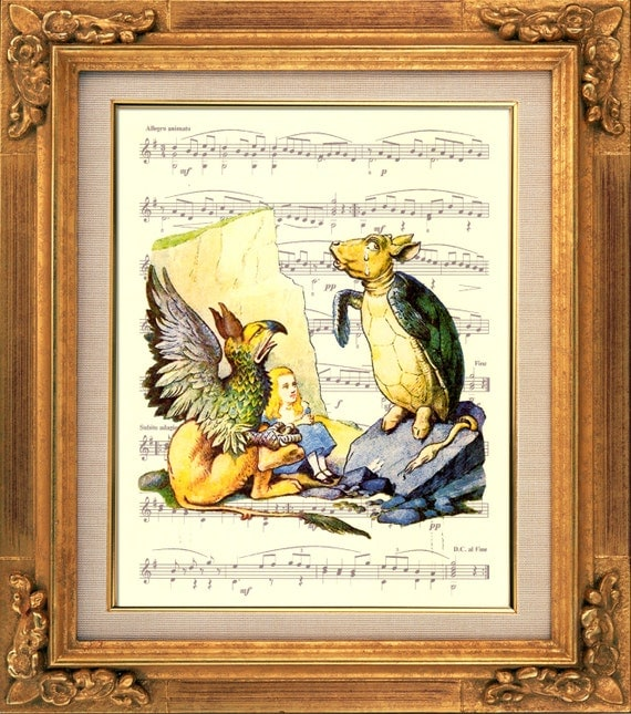Alice in wonderland the mock turtle and by extraordinaryart for Michal turtle music from the living room