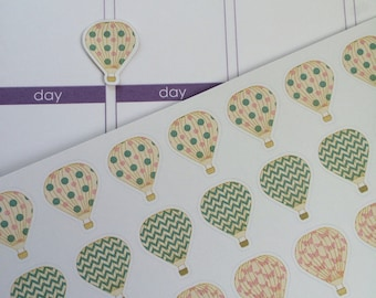 Planner Stickers Hot Air Balloons Stickers Planner Stickers