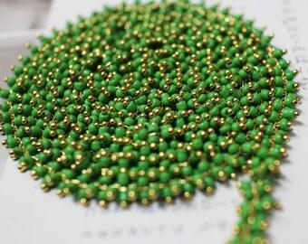 green beads chain