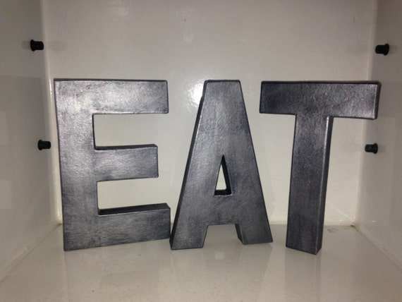 decorative letters eat free standing faux metal letters wooden decorative free standing letter home decor for