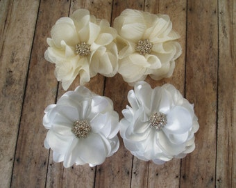 Ivory or White Wedding Hair Flowers Wedding Hair Accessory Wedding Hair Piece Bridal Hair Accessories Bridesmaids Gift