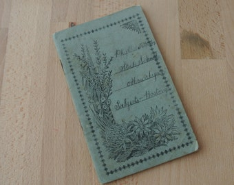Gorgeous old 1920's Australian School Note Book Handwriting Notebook
