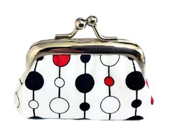 Vertical Dots  - Tiny Kisslock Coin Purse - Tiny Fun