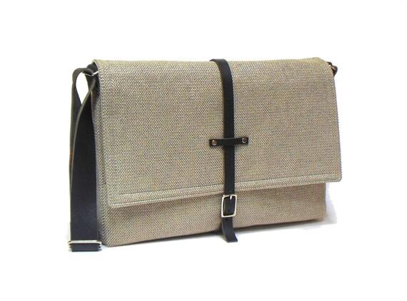 11 13 macbook air messenger bag beige