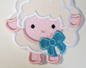 Baby Spring Lamb - Iron On or Sew On Embroidered Applique