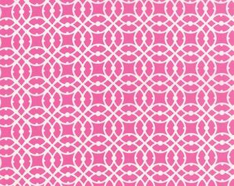 Hibiscus Pink Geometric Paradiso Fabric - Moda - Kate Spain - 27207 11