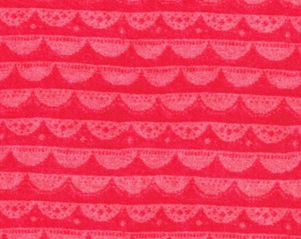Liberty Fabric Lilly Lace A Coral Tana Lawn Fat Quarter