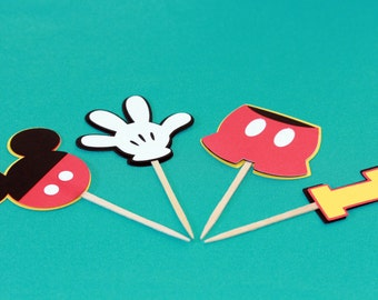 Mickey Mouse Cupcake Toppers (24)