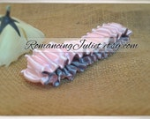 The Original Fully Reversible Bridal Garter..You Choose The Colors..shown in pale pink/silver gray