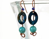 Bohemian Jewelry, Boho Earrings, Organic Patina
