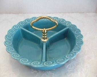 Aqua 3-Section Serving Dish