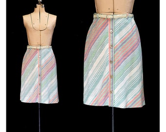 Vintage 60s Lazy Afternoon in Martha's Vineyard Skirt and Belt