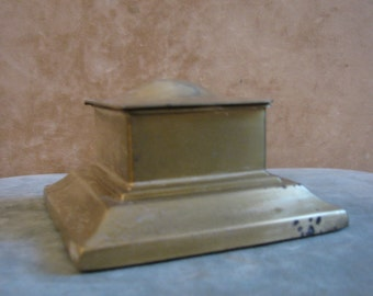 A Brass Inkwell by Bradley and Hubbard