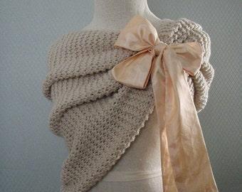 Bridal shawl, bridesmaids gift, flower accessories, bridal accessories, wedding accessories, capelet, wedding gown, wedding, handmade.