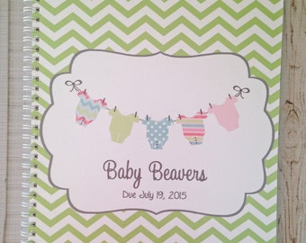 Pregnancy journal, expecting mom gift, maternity gift, pregnancy keepsake and book