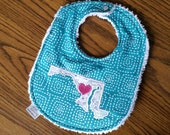 Where your Heart Is... Hometown Gift Infant Bib Custom Bib Created for you Pick your State and location of heart State Bib All 50 States