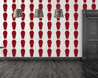 Coffin Stripes Gothic Wallpaper Vinyl Decals-Choose any Color