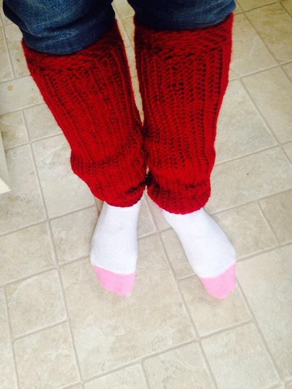True Red Leg Warmers