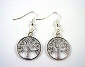 Tree of Life Earrings  - Silver Tree Earrings - Pagan Earrings