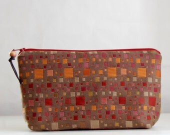Kasbah Wide Padded Zipper Pouch Gadget Case Cosmetics Bag - READY TO SHIP