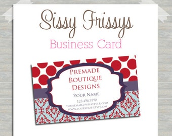 Business Card - Digital File - Business Card File - Earring Card - Jewelry Card - Hang Tag - Mom Card - Play Date Card - 215386807