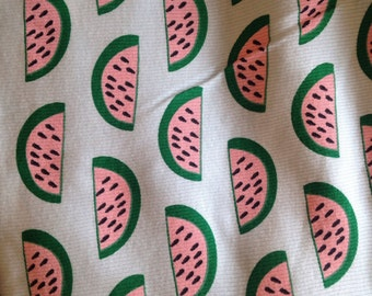 Rib knit fabric with melons