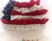 Flip Diaper Cover - American Flag Ruffle - Noodle, Patriotic