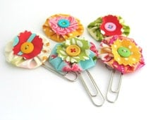 Daily Planner Clips, Handmade Clips, Journal Clips, Paper Clips, Bookmarks, Jumbo Paper clips - Set of 3 OR 5