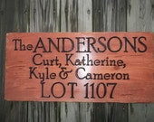 CAMPING SIGNS - carved wood signs - for your campsite, cabin, cottage, deck or dock, or any place you call home.