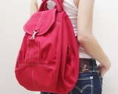 New Year SALE - 20% OFF Essential in Red / Backpack / Satchel / Rucksack / Diaper Bag / Tote / Women / Shoulder Bag / For Her / Gift Ideas