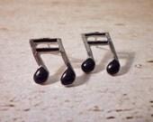 SALE - Musical Note Stud Earrings