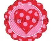 Machine Embroidery Design Applique Heart Scallop INSTANT DOWNLOAD